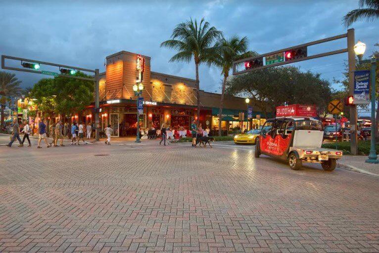 Downtown Delray Beach Florida