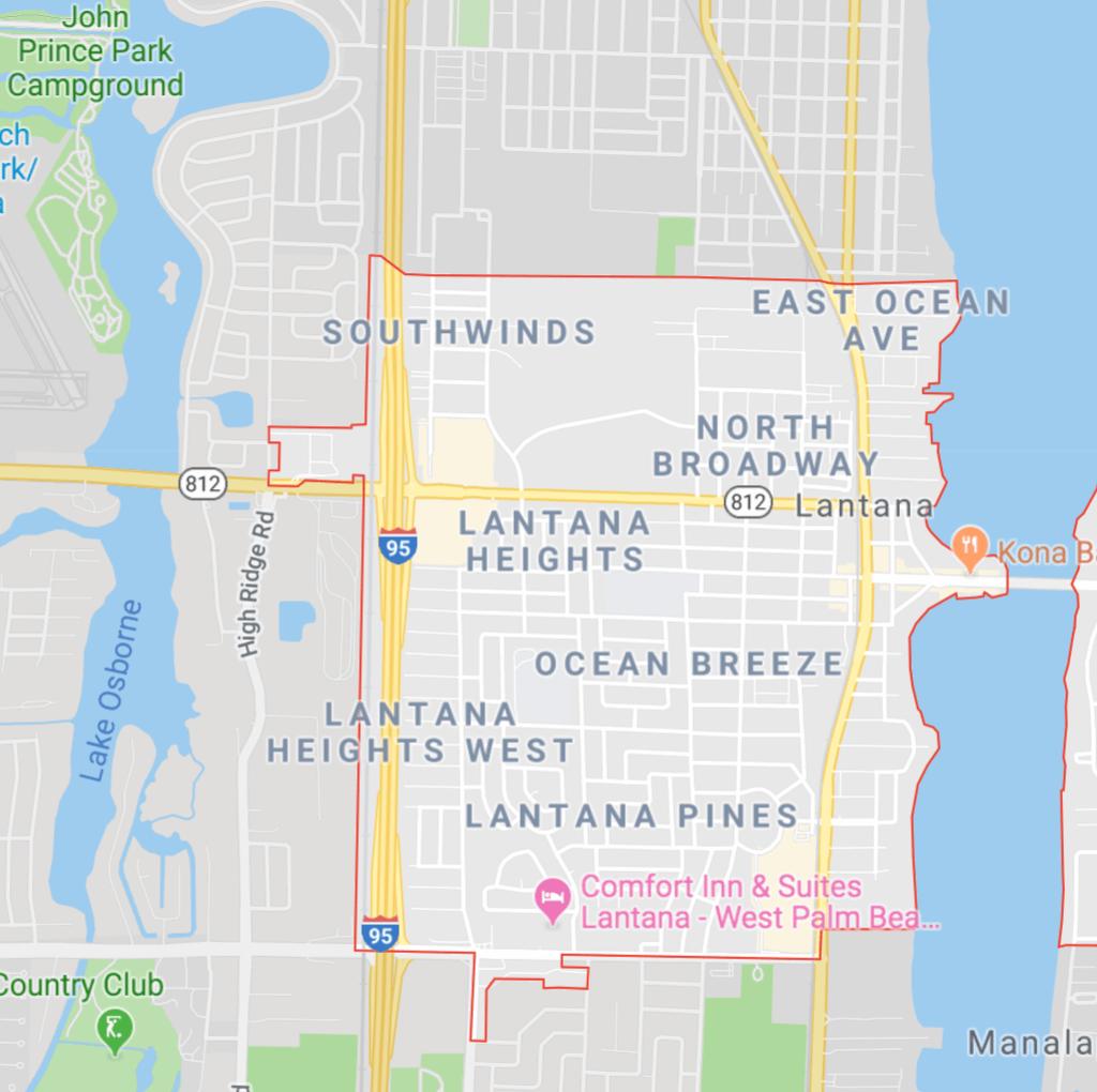 Lantana Map for Plumbers
